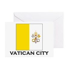 Vatican City Flag Stuff Greeting Cards (Package of