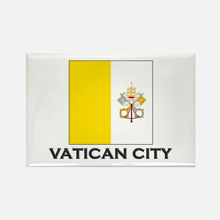 Vatican City Flag Stuff Rectangle Magnet