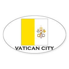 Vatican City Flag Stuff Oval Decal