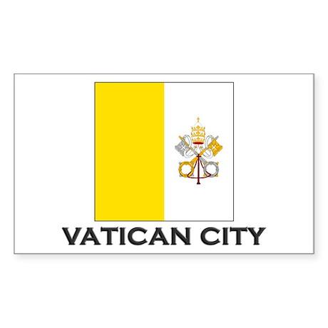 Vatican City Flag Stuff Rectangle Sticker