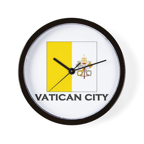Vatican City Flag Stuff Wall Clock