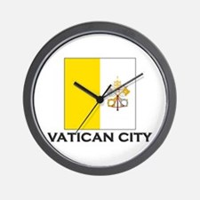 Vatican City Flag Stuff Wall Clock