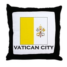 Vatican City Flag Stuff Throw Pillow