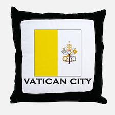 Vatican City Flag Stuff Throw Pillow