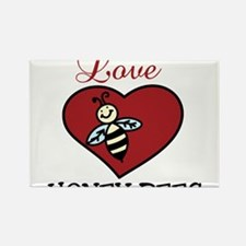 Love Honey Bees Rectangle Magnet