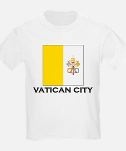 Vatican City Flag Stuff Kids T-Shirt