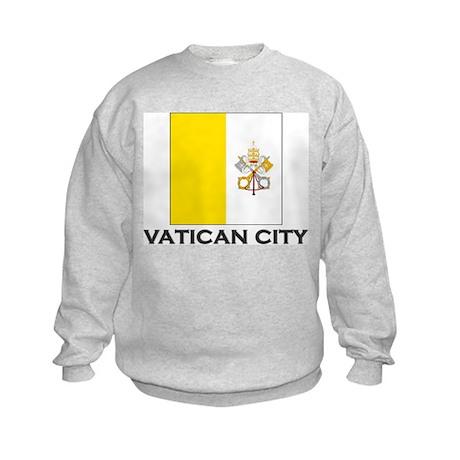 Vatican City Flag Stuff Kids Sweatshirt