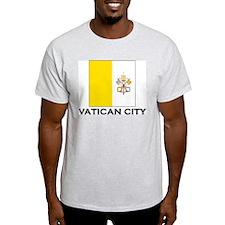 Vatican City Flag Stuff Ash Grey T-Shirt
