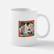 Happy Holidays Corgi Greeting Mug