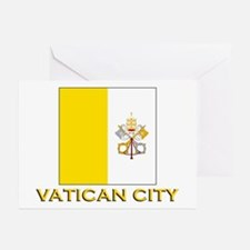 Vatican City Flag Gear Greeting Cards (Package of