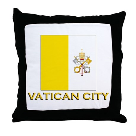 Vatican City Flag Gear Throw Pillow