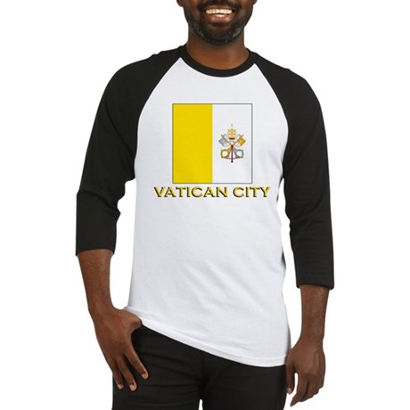 Vatican City Flag Gear Baseball Jersey