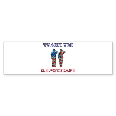 Thanks to our U.S. Vets Sticker (Bumper)