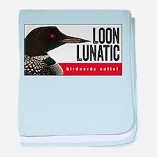Loon Lunatic baby blanket