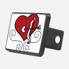 Heart With Bow Hitch Cover