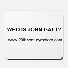 Who Is John Galt with link Mousepad