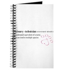 Vet Tech Definition (Pink Paw) Journal