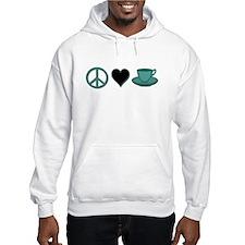 Peace, Love Coffee Jumper Hoody