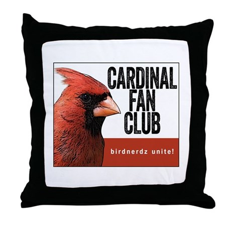 Cardinal Fan Club Throw Pillow