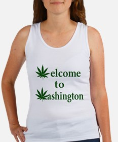 Welcome to Washington Marijuana Women's Tank Top