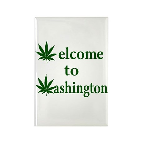 Welcome to Washington Marijuana Rectangle Magnet (