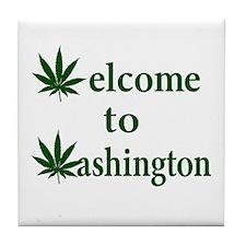 Welcome to Washington Marijuana Tile Coaster