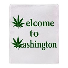 Welcome to Washington Marijuana Throw Blanket
