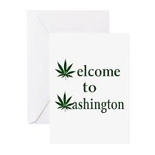 Welcome to Washington Marijuana Greeting Cards (Pk