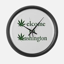 Welcome to Washington Marijuana Large Wall Clock