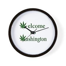 Welcome to Washington Marijuana Wall Clock
