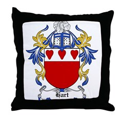 Hart Coat of Arms Throw Pillow
