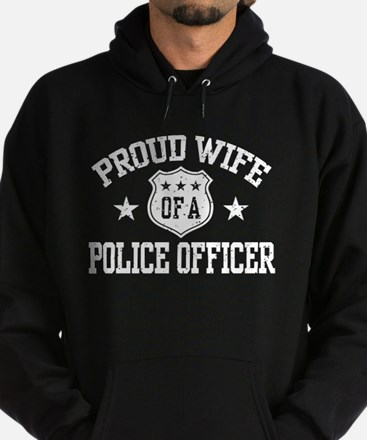Proud Wife of a Police Officer Hoodie (dark)