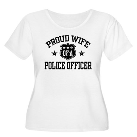 Proud Wife of a Police Officer Women's Plus Size S