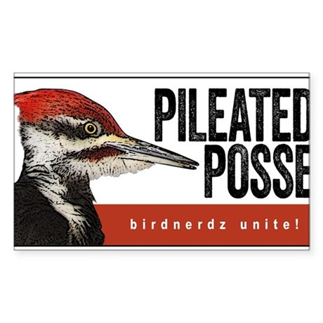 Pileated Posse Sticker (Rectangle)