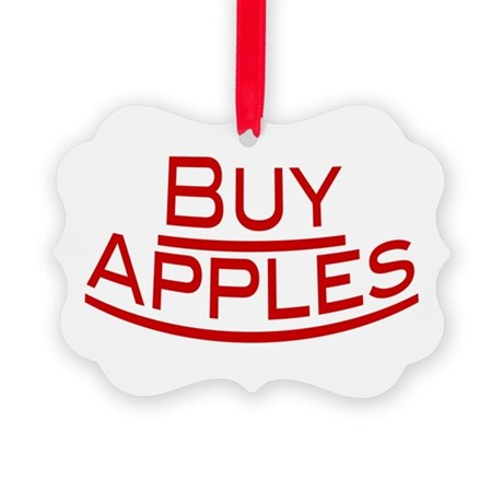 Buy Apples Picture Ornament