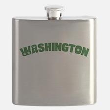 WASHINGTON with Pot Leaves Flask