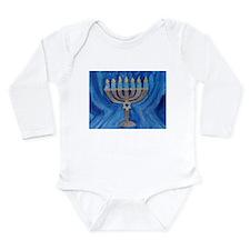 HANUKKAH MENORAH Long Sleeve Infant Bodysuit