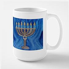 HANUKKAH MENORAH Large Mug