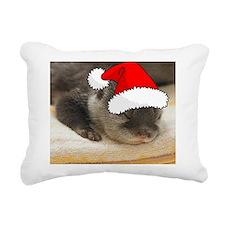 Christmas Otter Rectangular Canvas Pillow