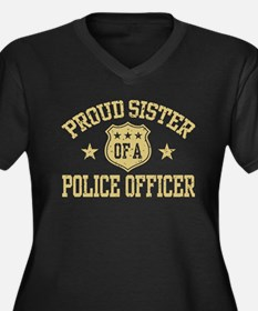 Proud Sister of a Police Officer Women's Plus Size