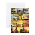 Collage of Turner Landscapes Greeting Card