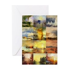 Collage of Turner Landscapes Greeting Card
