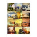 Collage of Turner Landscapes Large Poster