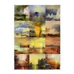 Collage of Turner Landscapes 5'x7'Area Rug