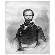 Digitally restored vector portrait of Civil War Ge Poster