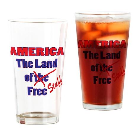 Land of Free Stuff Drinking Glass