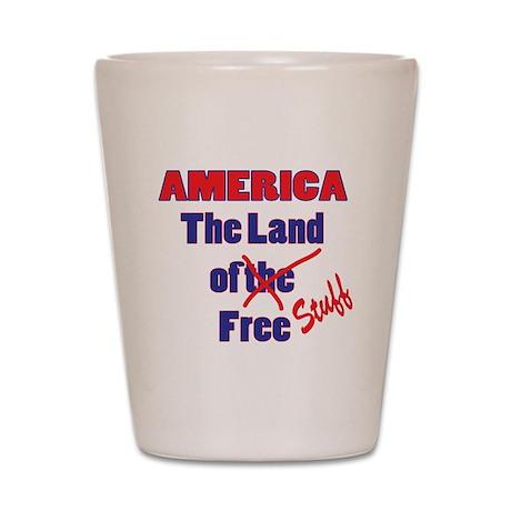 Land of Free Stuff Shot Glass