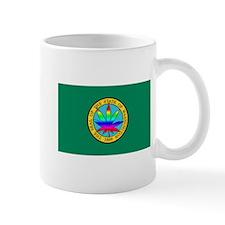 WA State Flag with Pot Leaf Mug