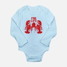 Lobsters Mate For Life Long Sleeve Infant Bodysuit