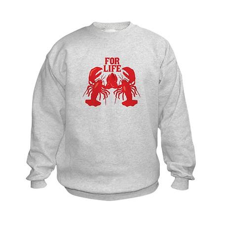 Lobsters Mate For Life Kids Sweatshirt